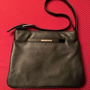 Black Leather/Pleather Mmisani Shoulder Bag